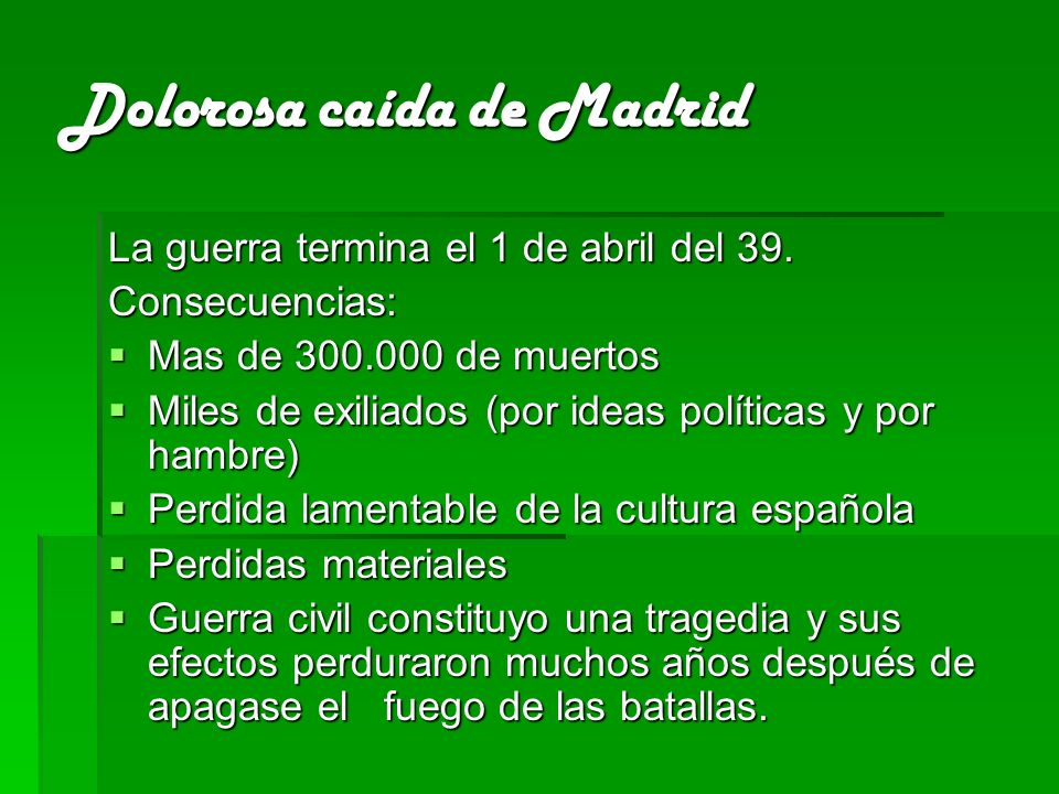 Dolorosa caída de Madrid