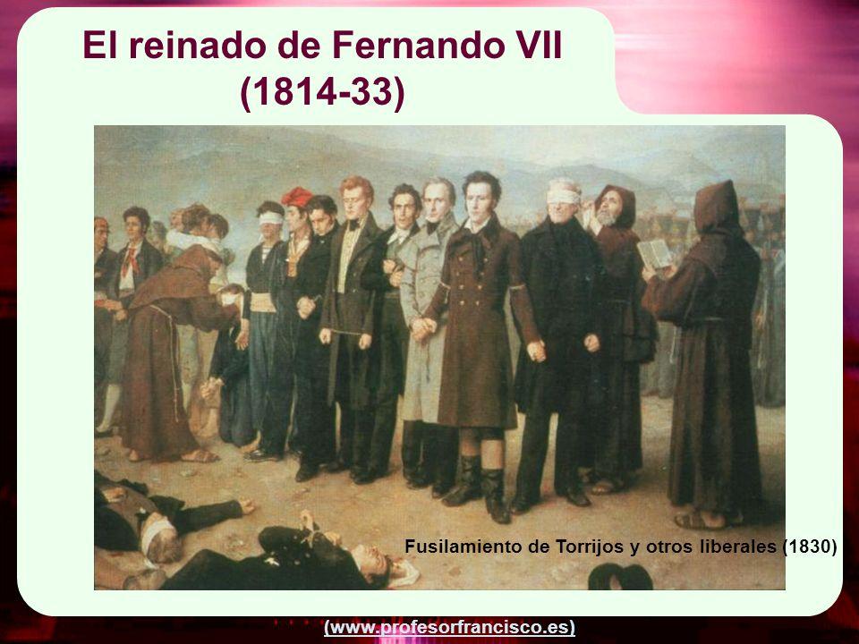 El reinado de Fernando VII (1814-33)