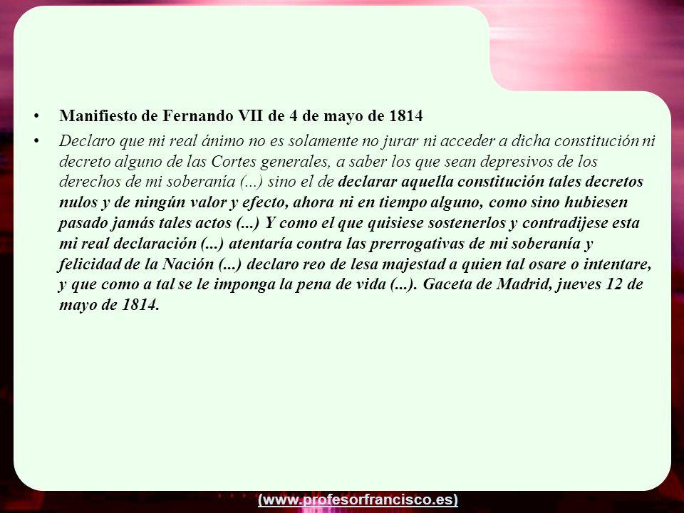 Manifiesto de Fernando VII de 4 de mayo de 1814