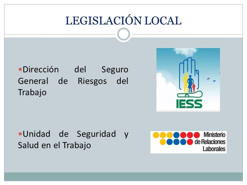 LEGISLACIÓN LOCAL Dirección del Seguro General de Riesgos del Trabajo