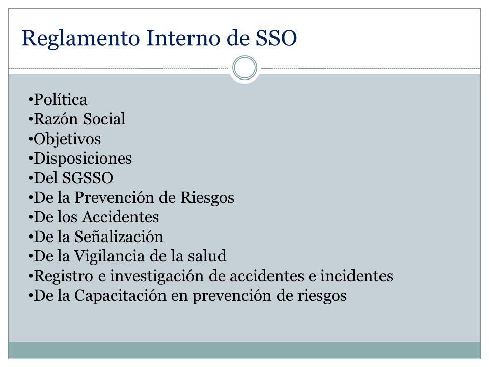 Reglamento Interno de SSO