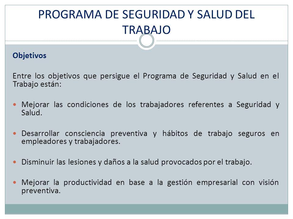 PROGRAMA DE SEGURIDAD Y SALUD DEL TRABAJO