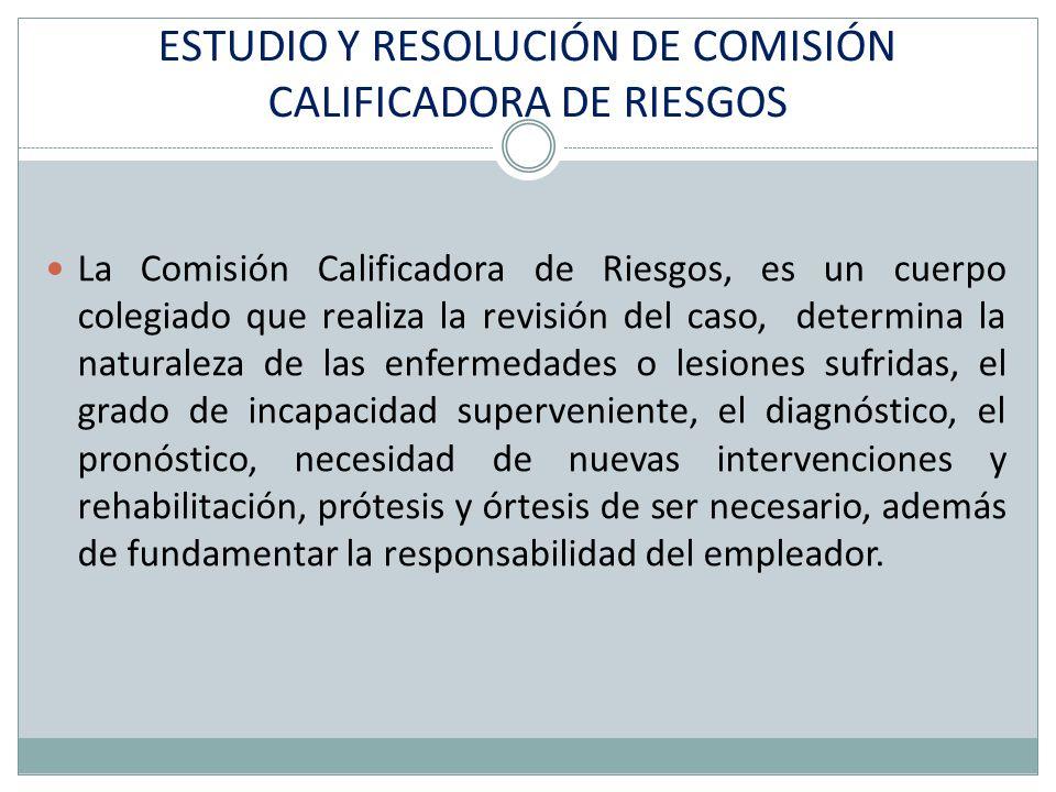 ESTUDIO Y RESOLUCIÓN DE COMISIÓN CALIFICADORA DE RIESGOS