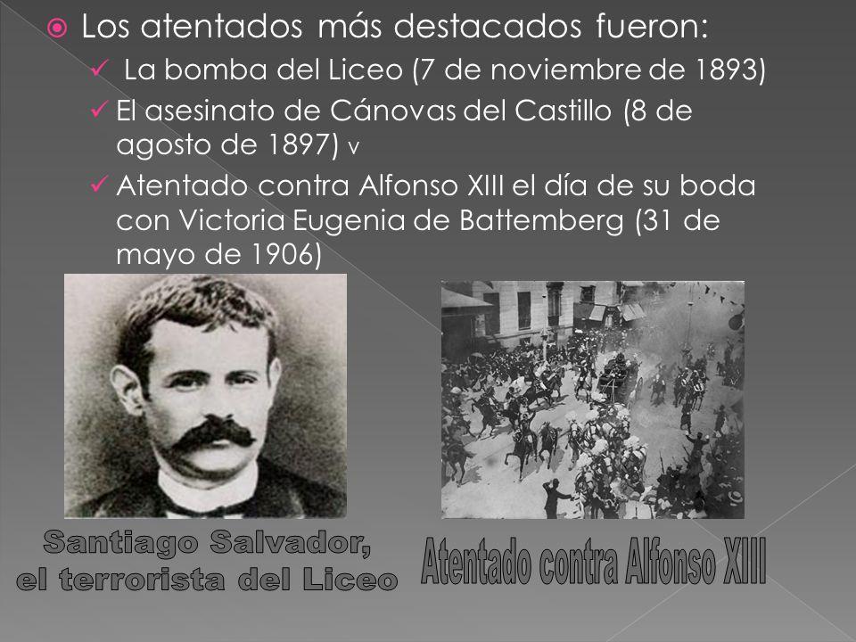 el terrorista del Liceo Atentado contra Alfonso XIII
