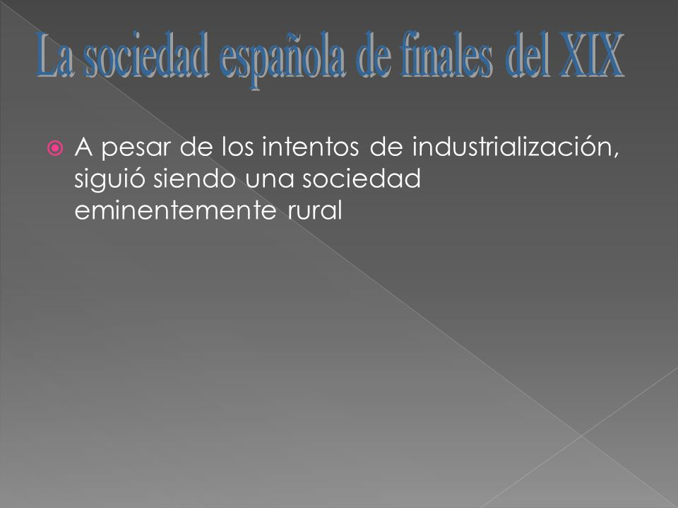 La sociedad española de finales del XIX