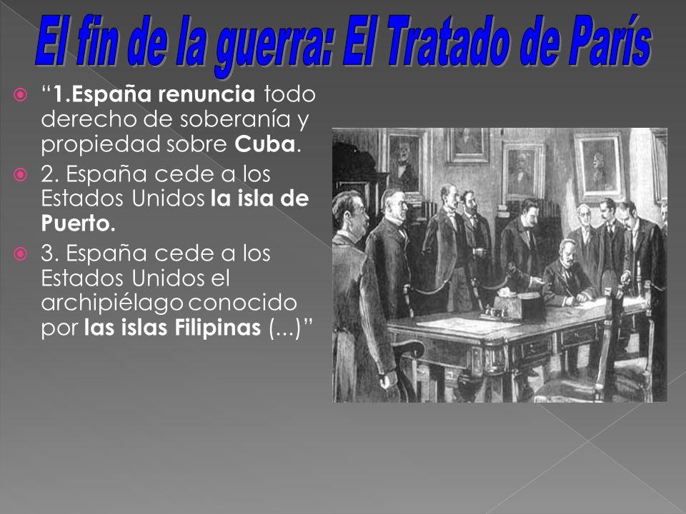 El fin de la guerra: El Tratado de París