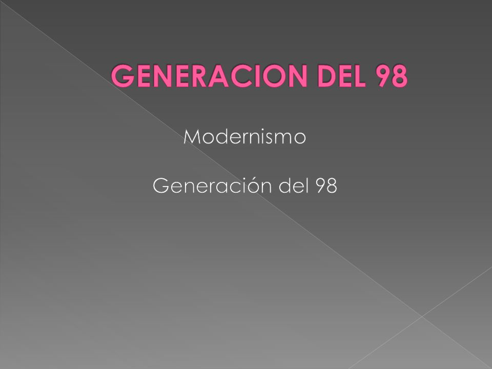 Modernismo Generación del 98