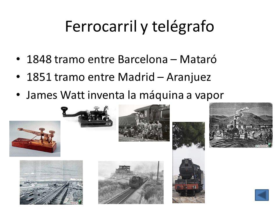 Ferrocarril y telégrafo