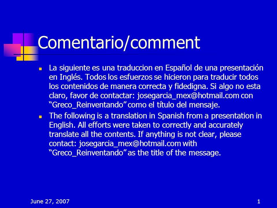 Comentario/comment