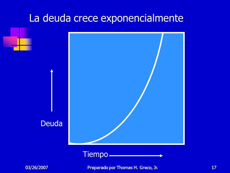 La deuda crece exponencialmente