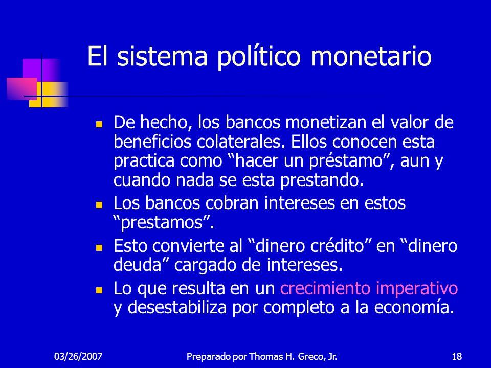 El sistema político monetario