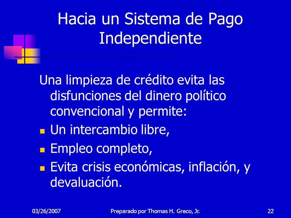 Hacia un Sistema de Pago Independiente