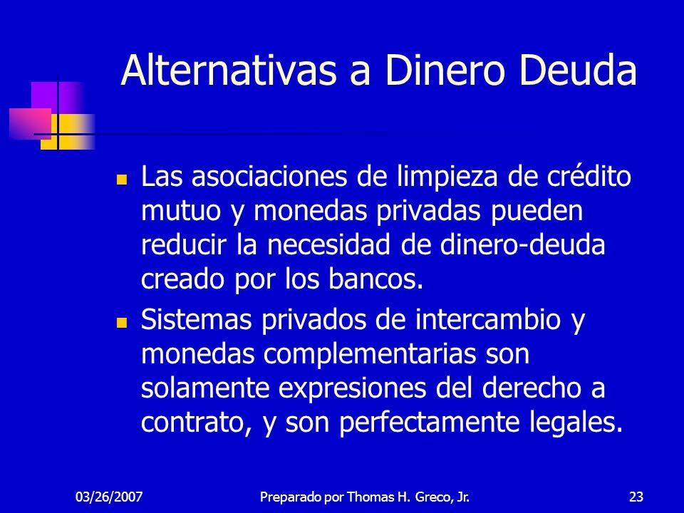 Alternativas a Dinero Deuda