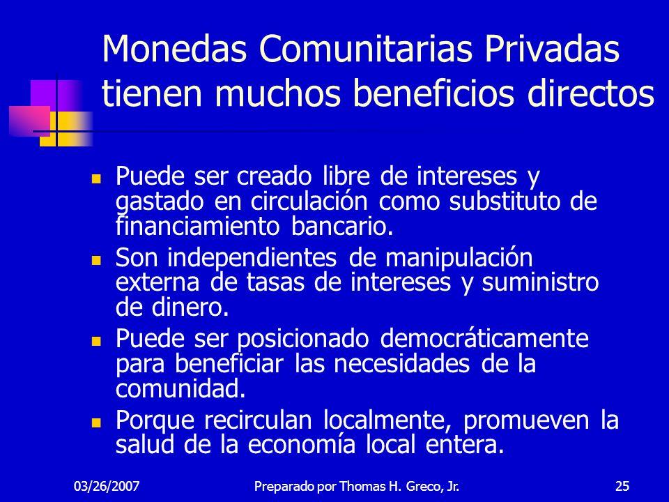 Monedas Comunitarias Privadas tienen muchos beneficios directos