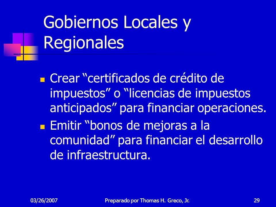 Gobiernos Locales y Regionales