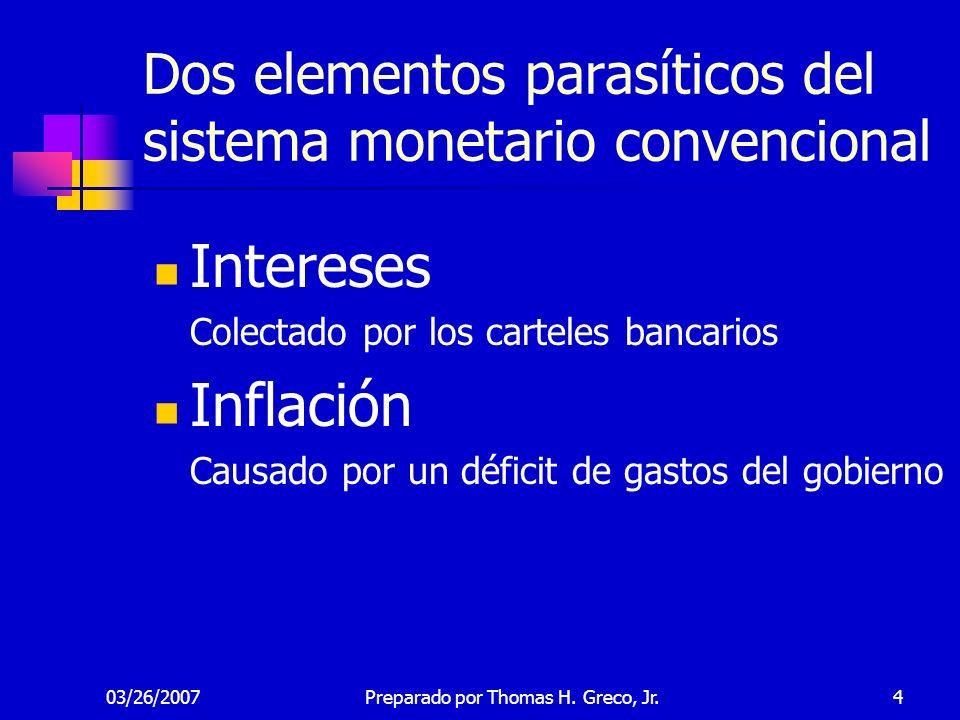 Dos elementos parasíticos del sistema monetario convencional