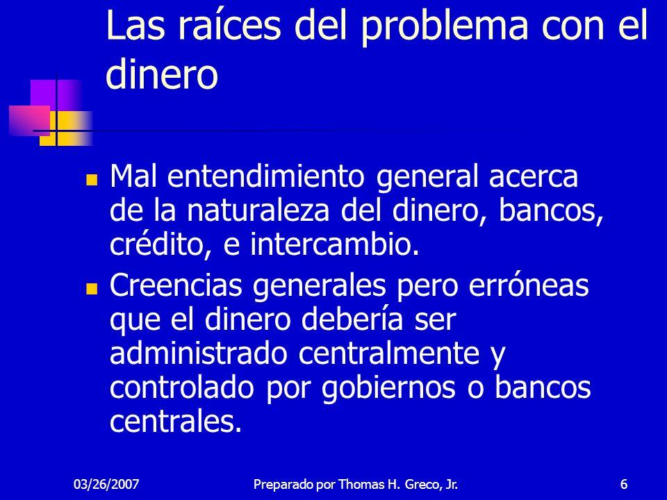 Las raíces del problema con el dinero