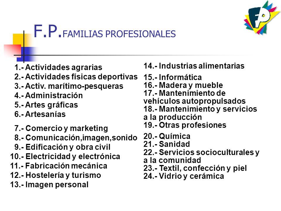 F.P.FAMILIAS PROFESIONALES