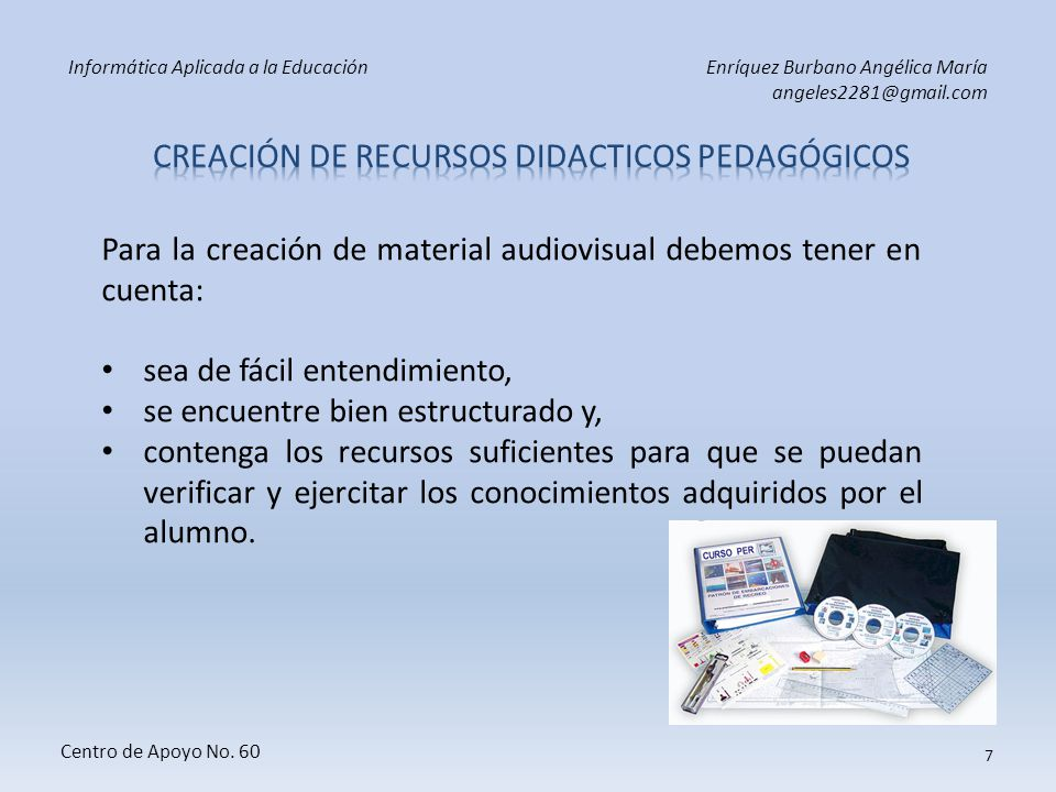 Creación de RECURSOS DIDACTICOS pedagógicos