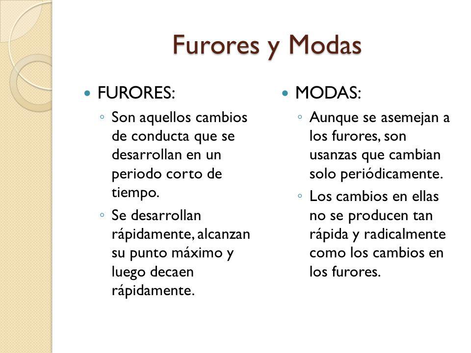 Furores y Modas FURORES: MODAS: