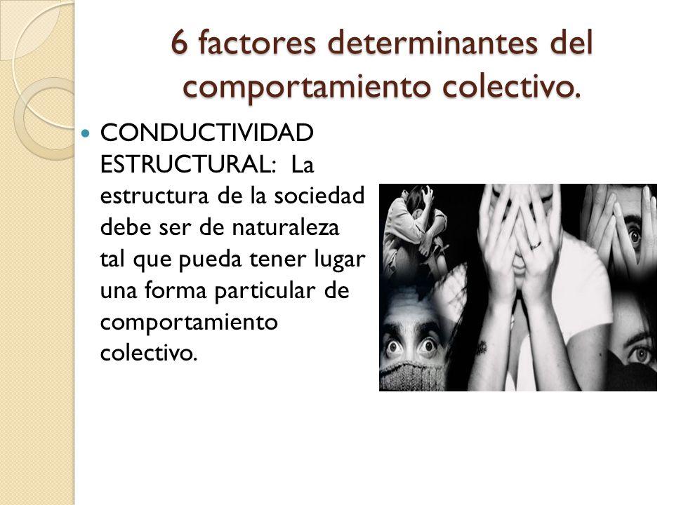 6 factores determinantes del comportamiento colectivo.