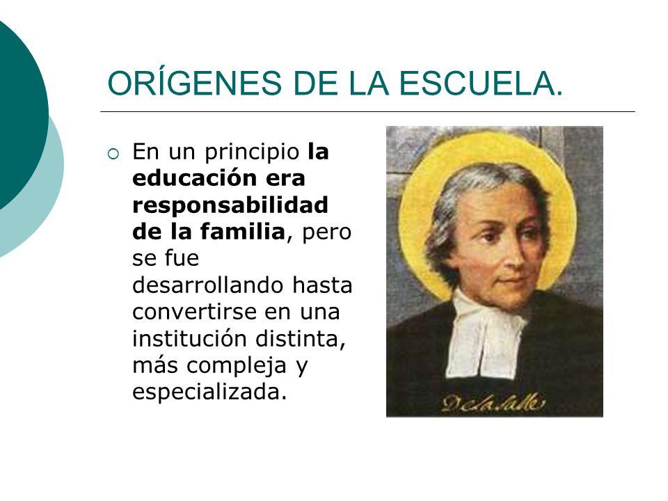 ORÍGENES DE LA ESCUELA.