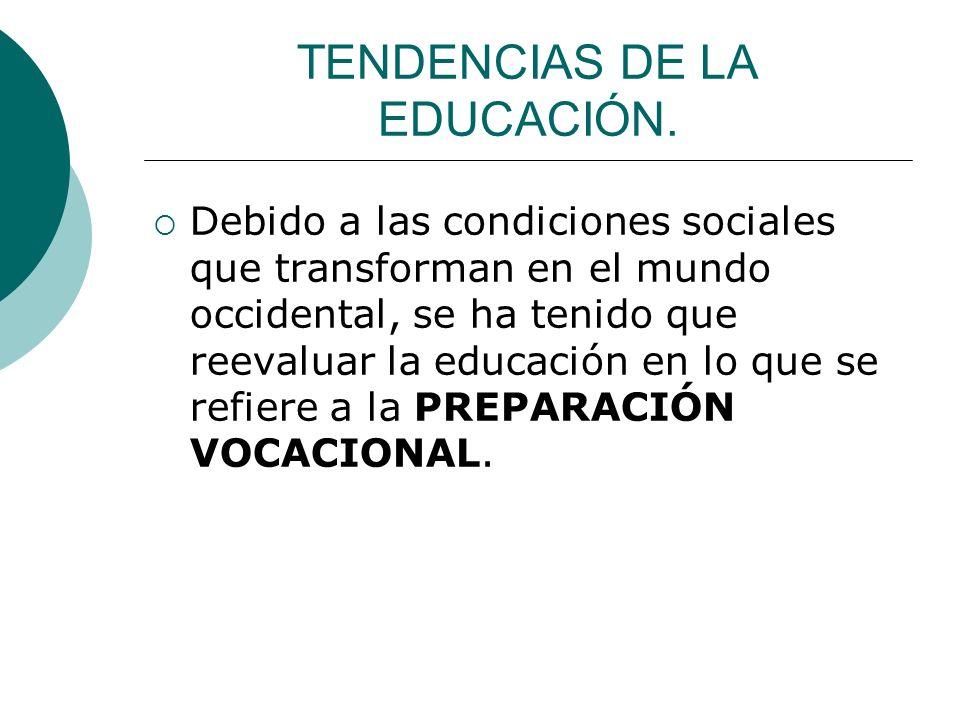 TENDENCIAS DE LA EDUCACIÓN.