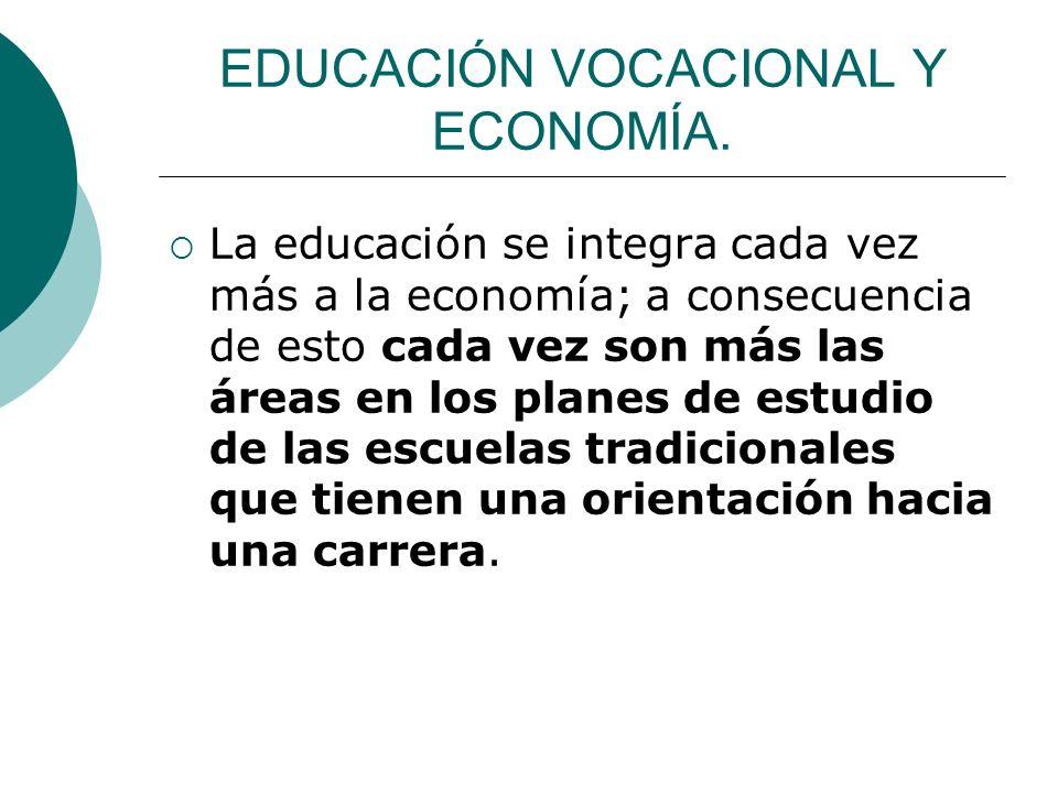 EDUCACIÓN VOCACIONAL Y ECONOMÍA.