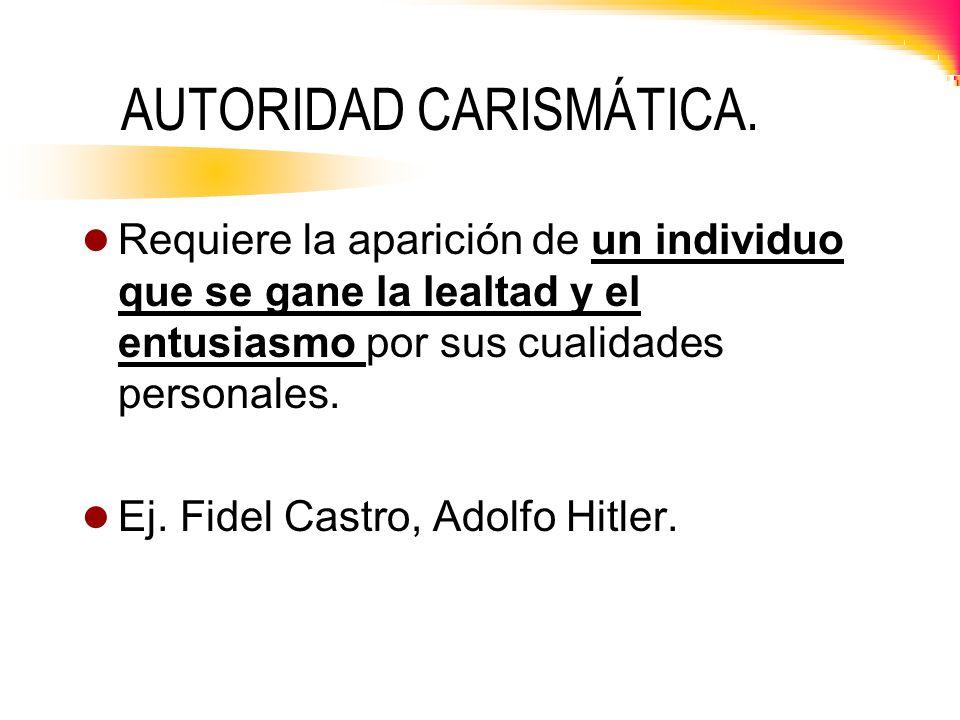 AUTORIDAD CARISMÁTICA.