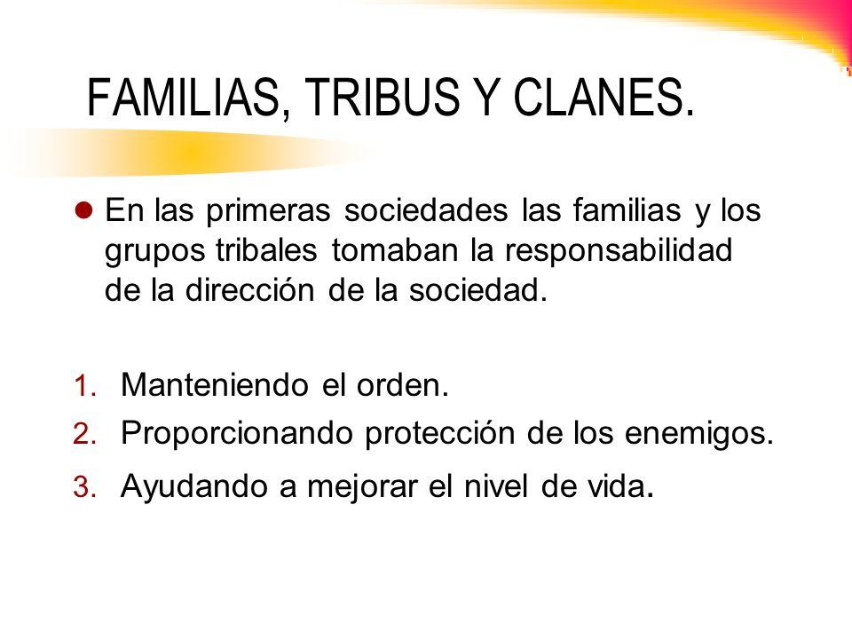 FAMILIAS, TRIBUS Y CLANES.