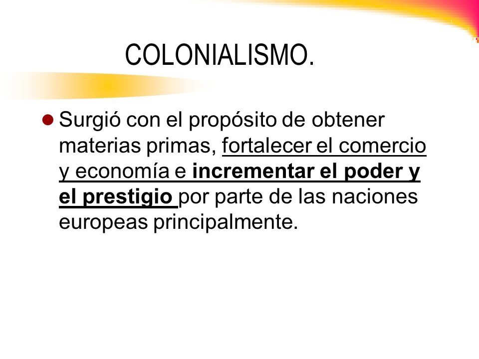 COLONIALISMO.