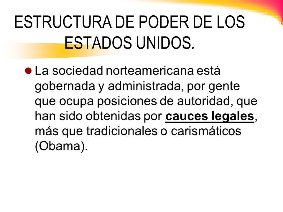 ESTRUCTURA DE PODER DE LOS ESTADOS UNIDOS.