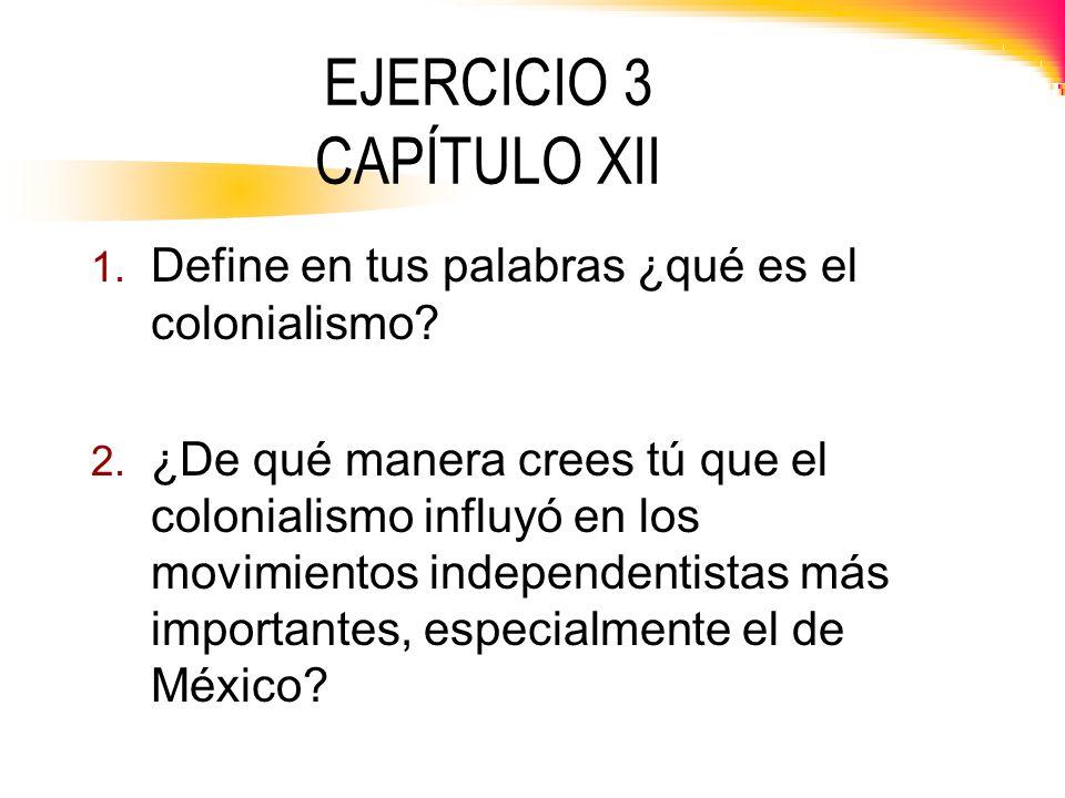 EJERCICIO 3 CAPÍTULO XII