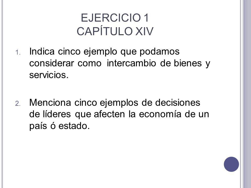 EJERCICIO 1 CAPÍTULO XIV