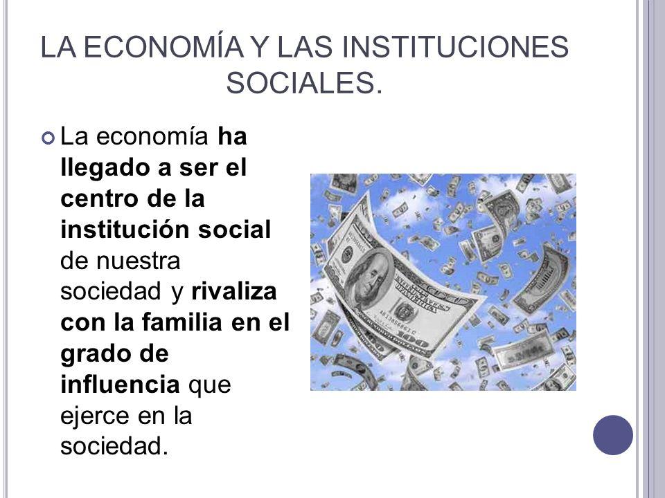 LA ECONOMÍA Y LAS INSTITUCIONES SOCIALES.