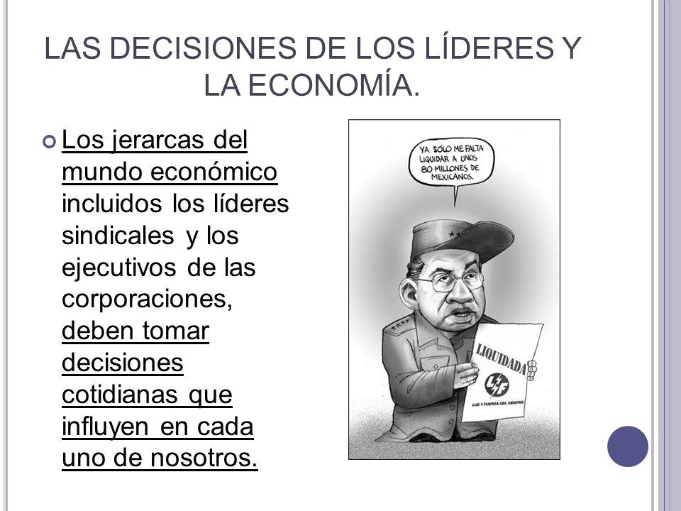 LAS DECISIONES DE LOS LÍDERES Y LA ECONOMÍA.