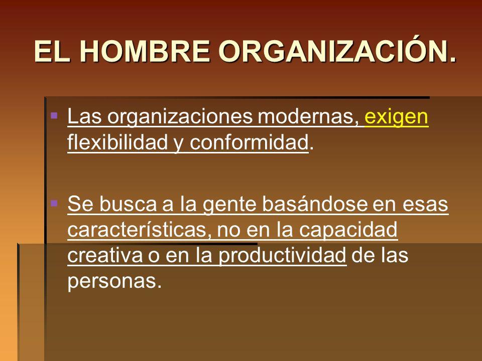 EL HOMBRE ORGANIZACIÓN.