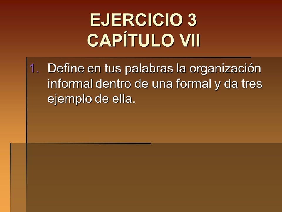 EJERCICIO 3 CAPÍTULO VII