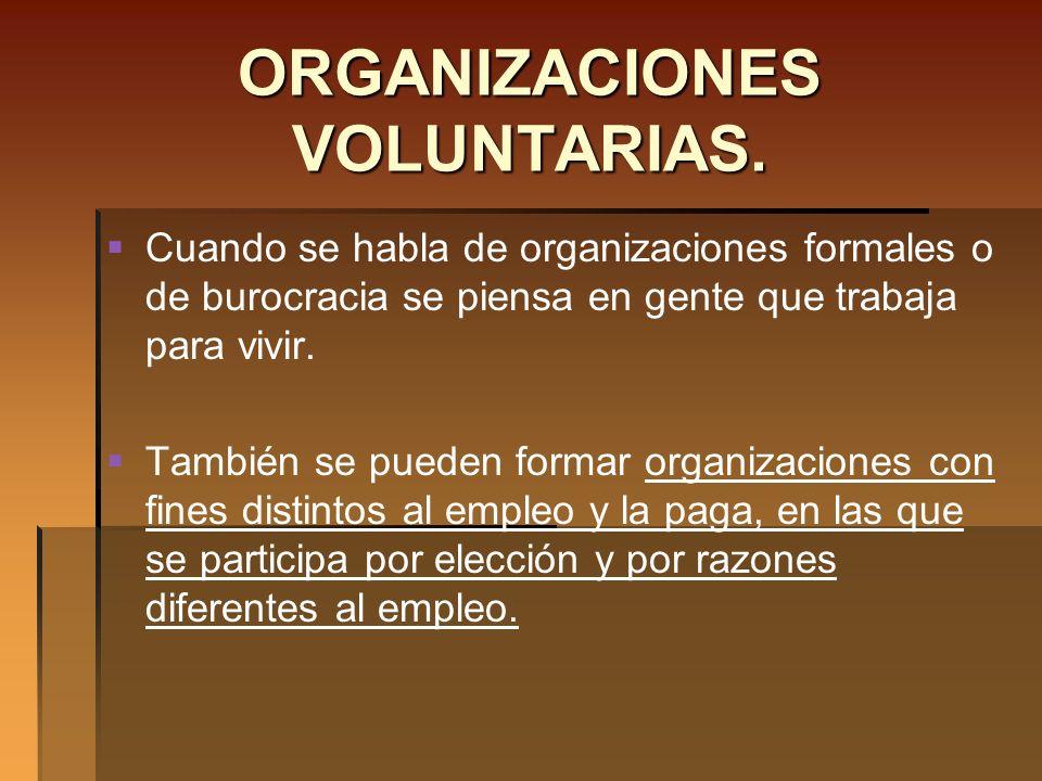 ORGANIZACIONES VOLUNTARIAS.