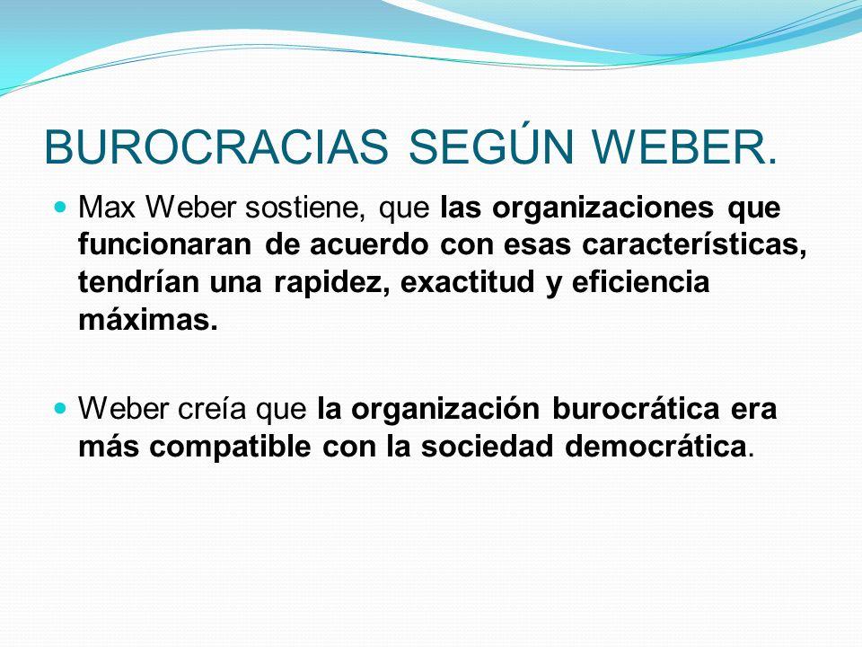 BUROCRACIAS SEGÚN WEBER.