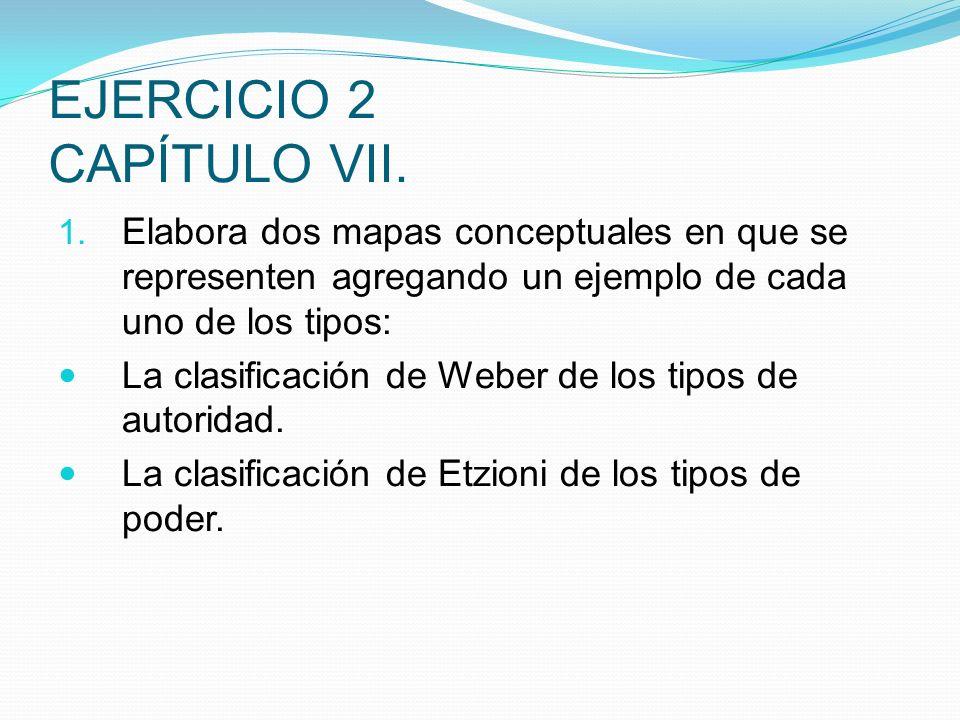 EJERCICIO 2 CAPÍTULO VII.