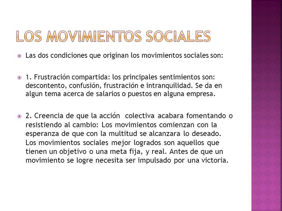 Los movimientos sociales