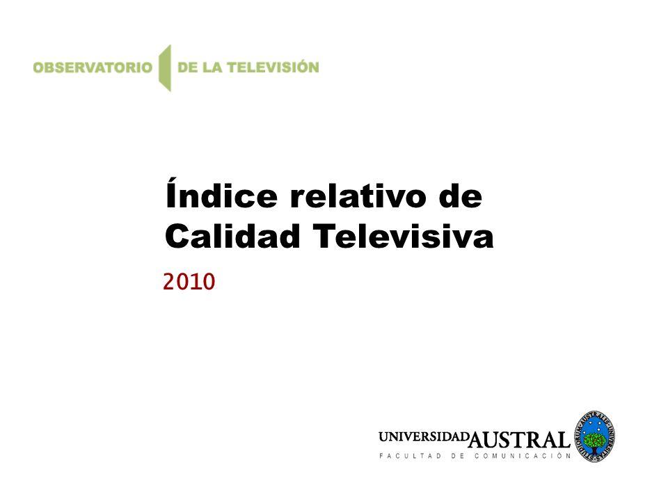 Índice relativo de Calidad Televisiva 2010