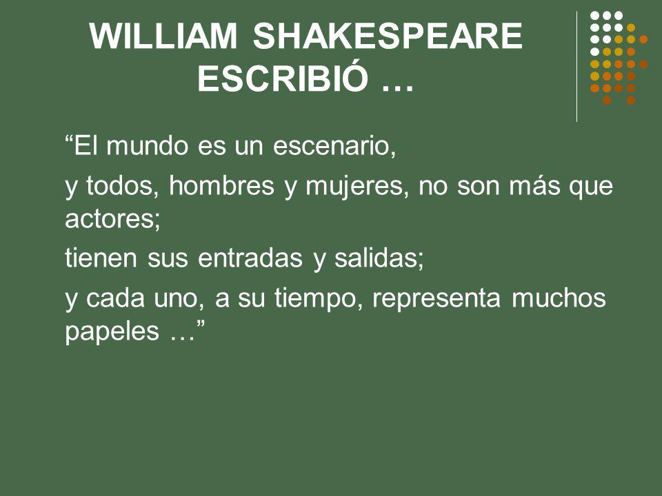 WILLIAM SHAKESPEARE ESCRIBIÓ …