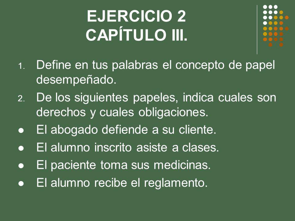EJERCICIO 2 CAPÍTULO III.