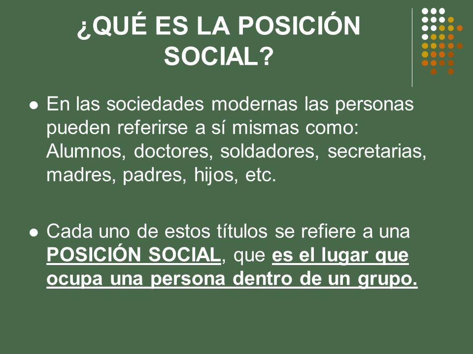 ¿QUÉ ES LA POSICIÓN SOCIAL