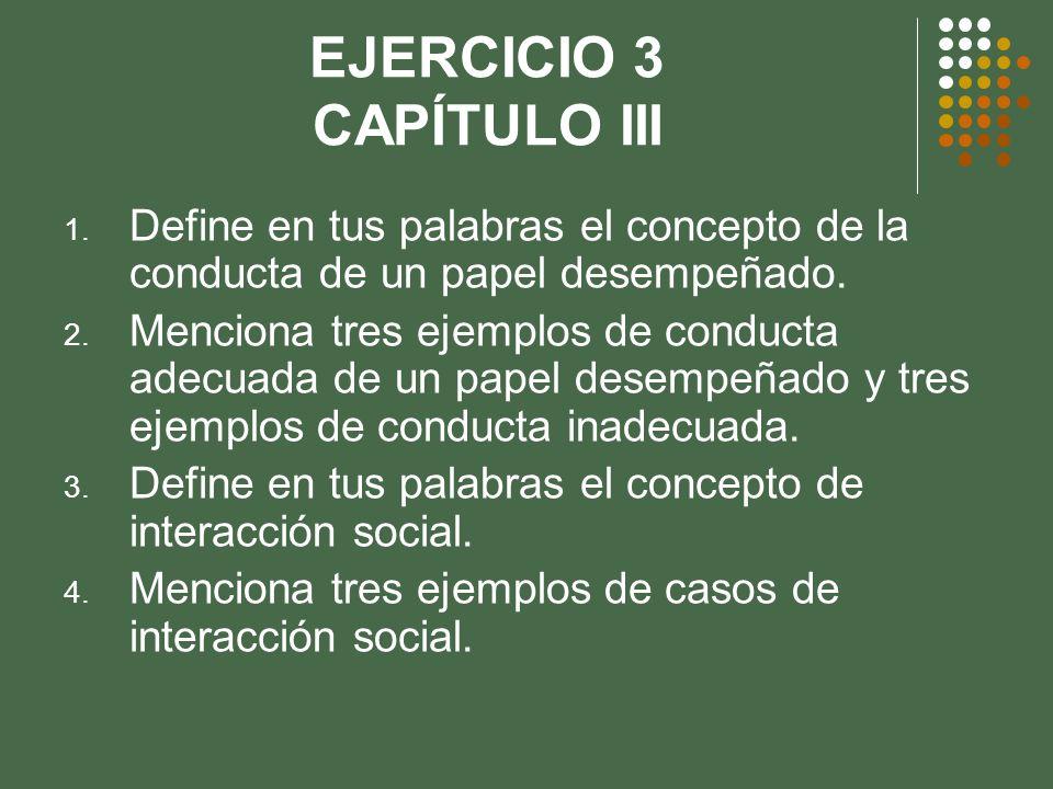 EJERCICIO 3 CAPÍTULO III