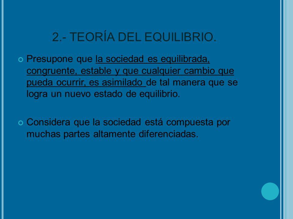 2.- TEORÍA DEL EQUILIBRIO.