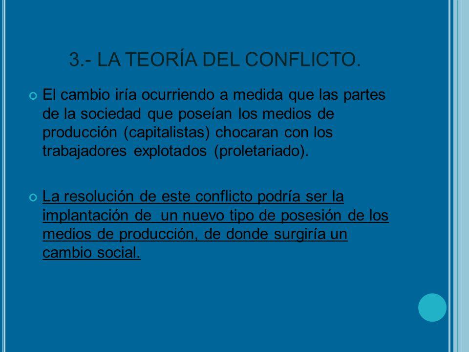 3.- LA TEORÍA DEL CONFLICTO.