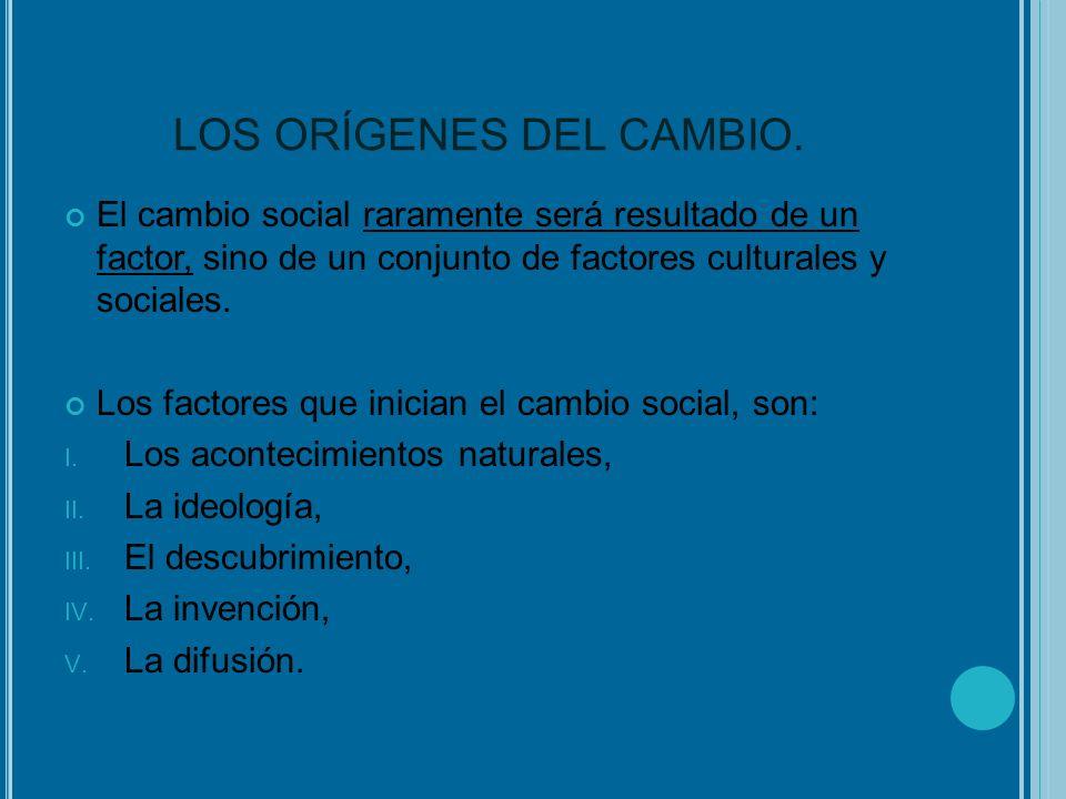 LOS ORÍGENES DEL CAMBIO.